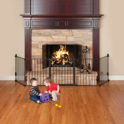 KidCo - KidCo Auto Close Hearth Gate - Black - G3100 - Shop for Safety Gates from Hayneedle.com! The KidCo Auto Close Hearth Gate - Black is a smart and safe way to keep your toddlers safe while warming your home. Crafted from durable steel material this handy hearth gate features quick-release wall hardware that installs easily. The easy-to-open gate latch features a dual magnet lock that automatically closes for safety of use and during high-traffic times a hold open feature suspends the auto-close function.About KidCoIncorporated in 1992 KidCo specializes in the designing engineering and production of upscale products for juvenile pet and fireplace markets. The pressure-mounted safety gate was a completely new concept that put KidCo on the map and has since been the cornerstone of their business. KidCo offers a comprehensive assortment of child home safety products ranging from cabinet locks to TV straps and much much more. Located in Libertyville IL their state-of-the-art distribution and administration systems ensure that KidCo fulfills their customers' needs and expectations in an efficient and timely manner. Today KidCo personnel still personally ensure the highest level of customer service to both dealers and end consumers.