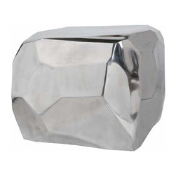 Four Hands - Silver Shining Diamond Cube Table - Looking for a table that can grab the attention of everyone around in just one look? The Silver Shining Diamond Cube Table from the Maslow collection is designed to do just that. Made of High quality silver hued material, this cube table is designed in a diamond pattern that is efficient to leave an imprint in the minds of the onlooker.