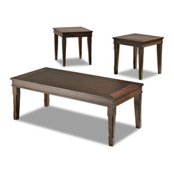 Klaussner - 3-Pc Occasional Table Set - Includes two end tables and one cocktail table
