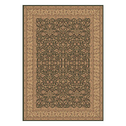 """Dynamic Rugs - Dynamic Rugs Legacy 58004-420 (Green) 6'7"""" x 9'6"""" Rug - Legacy is yet another superb collection with magnificent styling and priced to fit any budget. Legacy is densely Woven on wilton loom with high quality heat-set polypropylene that is anti-static with highest color fastness."""