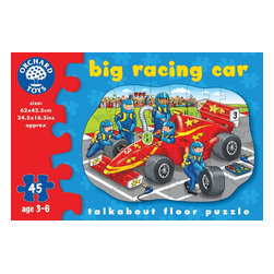 """The Original Toy Company - The Original Toy Company Kids Children Play Big Racing Car - The big racing car has pulled into the pits while the crowd cheers the other cars on. Help the team get the car back in the race by piecing together this exciting scene. Includes talk about points for added play value. Recommended for ages 3 to 7. Weight: 2 lbs. Gender: Boy. 45 pieces. Puzzle size- 21""""x16"""""""