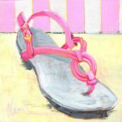 """Perfectly Pink (Original) By Nancy Tyler - Fun piece in the """"I Love Shoes Collection"""""""