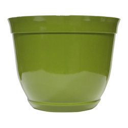 Alpine Fountains - Small 10 in. Bowl Planter in Light Green - Made of Plastic. 1 Year Limited Warranty. Assembly Required. Overall Dimensions: 10 in. L x 10 in. W x 8 in. H (0.77 lbs)These bowl planters are perfect for patios and decks.  Available in a variety of sizes and colors they can meet any need, or taste and are very durable.