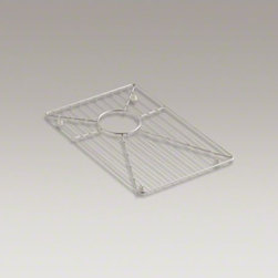 """KOHLER - KOHLER Vault(TM) stainless steel sink rack, 19-3/16"""" x 16-11/16"""" for 36"""" offset - Protect the beauty of your Vault apron-front sink with a sink rack. Designed to fit the large rectangular basin of the Vault sink, this stainless-steel rack helps safeguard your fragile dishes and protects the sink's surface."""