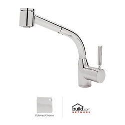 "Rohl - Rohl R7923APC Polished Chrome Modern Lux Single Kitchen Faucet with - Lux Single Kitchen Faucet with Pull Out Spray and Metal Lever HandleRohl's line of pullout spray kitchen faucets is hard working, versatile, and designed to simplify life in the kitchen. Rohl's Lux pullout spray faucets and Rohl's DeLux pullout spray faucets come in a few different appearances from the bold, wider column to the architecturally inspired design of the pro-style pullout faucet. Rohl's Lux pullout spray faucets and Rohl DeLux pullout spray faucets are available for the standard kitchen sink, as well as bar/prep faucets to provide a well-rounded look in any kitchen.Rohl R7923 Features:All brass faucet body construction - weight: 8 lbs.Hand-machined from solid brass stockIndustry leading, 1/4 turn lifetime ceramic disc valveSuperior finishing process – chemical, scratch, and stain resistantNumber of installation holes required: 1Spout swivels to allow for unobstructed sink accessInsulated brass pullout spray faucet head (not plastic)Installs onto decks up to 2-1/4"" thickMetal lever handles includedSpout height: 9-1/4"" (measured from counter top to faucet outlet)Spout reach: 9-13/16"" (measured from center of faucet base to center of faucet outlet)Low lead compliant – complies with federal and state regulations for lead contentDesigned for use with standard U.S. plumbing connectionsExtra secure mounting assemblyAll necessary mounting hardware includedFully covered under Rohl's limited lifetime warrantyManufactured in New Zealand, Western Europe, and/or North AmericaAbout Rohl:Excellence, durability, and beauty. Family values, integrity, and innovation. These are all terms which aptly describe Rohl and its remarkable selection of kitchen and bathroom faucets and fixtures. Since 1983, Rohl has maintained a commitment to providing high-quality plumbing prod"