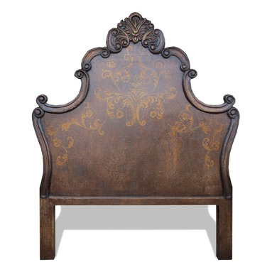 Beds - A perfect blend of style and design are displayed upon this elaborately hand crafted bedroom piece. You can see more alluring furnishings and decor custom made by The Koenig Collection at a local Houston showroom!