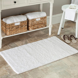 Safavieh - Safavieh Spa 2400 Gram Serenity White 27 x 45 Bath Rug (Set of 2) - Easily and quickly update the look of your bath with this bathroom rug set that has spa-inspired looks and design. Both of these large rugs feel luxurious under your feet,and their solid white color easily complements your style and makes care easy.