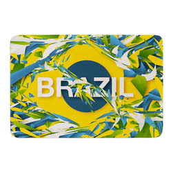 """KESS InHouse - Danny Ivan """"Brazil"""" World Cup Memory Foam Bath Mat (17"""" x 24"""") - These super absorbent bath mats will add comfort and style to your bathroom. These memory foam mats will feel like you are in a spa every time you step out of the shower. Available in two sizes, 17"""" x 24"""" and 24"""" x 36"""", with a .5"""" thickness and non skid backing, these will fit every style of bathroom. Add comfort like never before in front of your vanity, sink, bathtub, shower or even laundry room. Machine wash cold, gentle cycle, tumble dry low or lay flat to dry. Printed on single side."""
