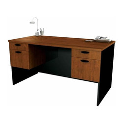 Bestar - Bestar Hampton Home Office Computer Desk in Tuscany Brown and Black - Bestar - Computer Desks - 694002163 - Transform your work environment into your very own custom office set-up with our Hampton Collection. It can either be used as a single unit or part of a complex office design to customize your work area exactly to your specifications. offering many possible configurations it makes the perfect addition to your home or small office.