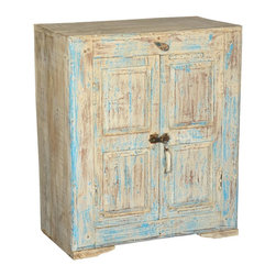 Sierra Living Concepts - Nottingham Reclaimed Wood Accent Storage Cabinet - Renovate the interiors of your living room with this Nottingham Reclaimed wood small storage cabinet.