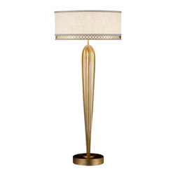 Fine Art Lamps - Fine Art Lamps 792915-2ST Allegretto Gold Leaf Table Lamp - 2 Bulbs, Bulb Type: 60 Watt Medium; Weight: 12lbs