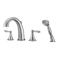Ultra Faucets - Ultra Faucets UF65243 Tub Faucet, Hand Shower - Two-handle design for precise temperature adjustment