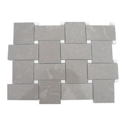 Arbor Lady Gray with Crystal White Dot Marble Tile - If you want something timeless and classic for your bath, think about the possibilities with this gorgeous, rich tile. The woven look captures the eye and it lends itself to a variety of color accents.