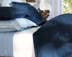 Casual Cotton Duvet Cover, King/Cal. King, Midnight Blue - A great choice for the bedroom or guestroom, our pin-tucked bedding has the soft, casual character of a favorite pair of jeans. Made of pure cotton. Duvet cover and sham reverse to self. Duvet cover has interior ties and a button closure. Sham has an envelope closure. Duvet cover, sham and insert sold separately. Machine wash. Imported.