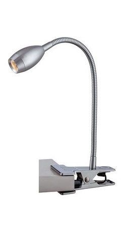 Lite Source - Lite Source LS-21803 Saskia Adjustable Clip-On LED Table Lamp - Lite Source LS-21803 Saskia 1 Light LED Clamp On LampLooking for some more light for your desk work space with sacrificing space? Look no further than this one light clip-on lamp from Lite Source. Featuring a flexible arm and an easy to use clamp, this single light clip-on lamp is both functional and space saving.Lite Source LS-21803 Features: