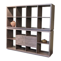 Malta Bookcase with Drawers & Malta Bookcase - Malta Combination is designed to offer quality, versatility and affordability to enhance any room in a house or small office, while enabling you to express your own style. Stack them high against the wall, or arrange them low on the floor, the possibilities are endless. Structure of the Malta Bookcase is made out of MDF with oak veneer.