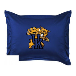 Sports Coverage - Kentucky Wildcats Locker Room Collection Pillow Sham - Show your team spirit with this officially licensed 25 x 31 Kentucky Wildcats sham. There is a 2 flanged edge that decorates all four sides of each Kentucky NCAA sham. Made of 100% polyester jersey mesh, just like the players wear, with screen printed Kentucky Wildcats logo in the center. Envelope closure in back. Fits standard pillow. Coordinates with Kentucky Locker Room Collection. 3 overlapping envelope closure is on back.
