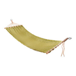 Esschert Design - Hammock - Sometimes all you need is a night under the stars to escape the stress of the day. Lounge in this striped hammock as it cradles your body. Relax and enjoy the cool breeze and warm glow of the moon as it rocks you to sleep.