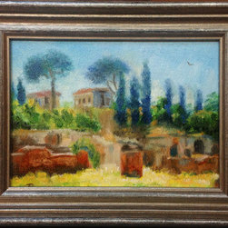 Italian Summer (Original) by Tatiana Roulin - I love painting Italy. I've been there several times and every time I am inspired. It's an amazing feeling when every scene you see you want to turn it in to a painting.