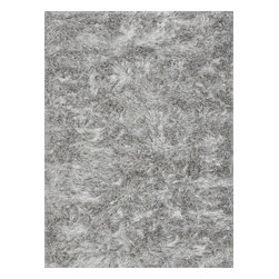 "Loloi Rugs - Loloi Rugs Vida Shag Collection, Silver, 5'-0""x7'-6"" - The handmade Vida Shag Collection from India features a sophisticated take on the hip shag construction. Vida Shags are handmade of 100-percent polyester with a choice of five luxurious trend-right colors: shimmery silver, smoky charcoal, soft taupe, rich plum and clean ivory."