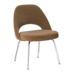 Saarinen Executive Side Chair w/Metal Legs Fabric - Design Within Reach - The Executive chair has been keeping businessmen's tushies comfy since 1946. I've noticed it turning up as a dining chair around Houzz a lot lately, and it also makes a good desk chair or occasional chair.