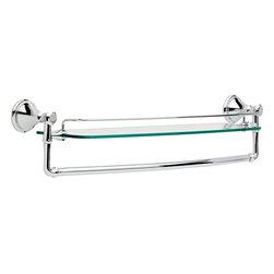 Delta Cassidy 24″ Glass Shelf with Bar - Delta Cassidy 24″ Glass Shelf with Bar, Chrome Finish, 79711