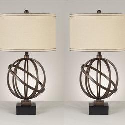 Signature Design by Ashley - Signature Design by Ashley(2pk) Shadell Table Lamp L211894 - (2pk) Shadell Table Lamp L211894