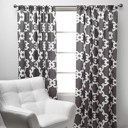 Montecito Panel, Gray - I would love to add these curtains to the master bedroom. Their hard-to-find gray matches perfectly with what's already in the space, and I like the unique pattern too.