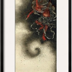 Artcom - Thunder God, Edo Period, 1847 by Katsushika Hokusai - Thunder God, Edo Period, 1847 by Katsushika Hokusai is a Framed Giclee Print set with a CHELSEA Black wood frame and a Crisp - Bright White mat.