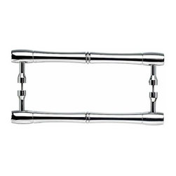 Top Knobs - Top Knobs: Nouveau Bamboo Back To Back Door Pull - Polished Chrome - Top Knobs: Nouveau Bamboo Back To Back Door Pull - Polished Chrome