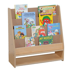 "Steffywood - Steffywood Home Pre Kids Wooden Learning Book Storage Display Rack - Book display has four upper shelves to hold books and a large lower storage section.Maple faced scratch resistant melamine panels are 5/8""thick. All edges have full finished rounded smooth corners. All tools and hardware are supplied for easy assembly. Made in the USA. GreenGuard certified."