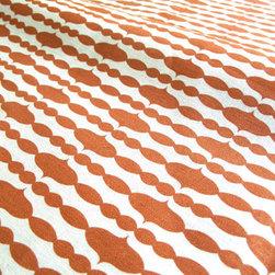 Organic Fabric - Raindrops Mandarin - Certified Organic Cotton/Hemp blend, 8-11oz, Printed in USA