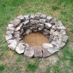 Flagstone Patio & Firepit in Denton, MD - Tennessee Wallstone Firepit