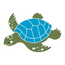 My Wonderful Walls - Sea Turtle Stencil for Painting - - 2-piece sea turtle stencil