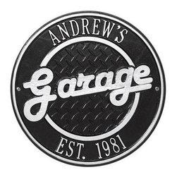 Address Plaques - Round Garage Personalized Plaque