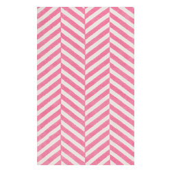 Loloi Rugs - Loloi Rugs Piper Collection - Bubble Gum Pink, 2' x 3' - Transform the floor into a vibrant play area for your child with the cheerful Piper Collection. Distinguished by its incredibly soft microfiber polyester surface and playful geometric and linear designs, the machine woven Piper Collection instantly l
