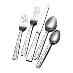 Lifetime Brands - Towle Living 20-Piece Minaj Frost Flatware Set - Towle Living 20-Piece Everyday Minaj Frost Flatware Set brings a pattern with a unique look to it with frost and polished stainless steel on the pattern it will go with any table setting.
