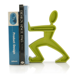 Black + Blum - James the Bookend, Lime - Forget book groups. This bookend will support your reading habits in ways you never thought possible. Each features a weighted base, can be used individually or in pairs, and comes in your choice of vibrant colors to brighten up even the most serious of libraries or bookshelves.
