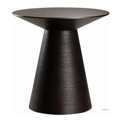Anika Side Table, Ebony Oak