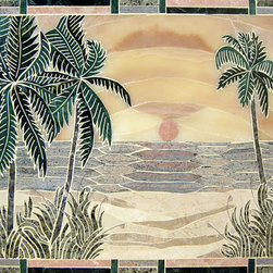 Handcrafted marble mural - Handmade in Florida,