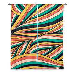 DiaNoche Designs - Window Curtains Unlined by Pom Graphic Design - Retro Movement - Purchasing window curtains just got easier and better! Create a designer look to any of your living spaces with our decorative and unique unlined window curtains. Perfect for the living room, dining room or bedroom, these artistic curtains are an easy and inexpensive way to add color and style when decorating your home.  This is a tight woven poly material that filters outside light and creates a privacy barrier.  Each package includes two easy-to-hang, 3 inch diameter pole-pocket curtain panels.  The width listed is the total measurement of the two panels.  Curtain rod sold separately. Easy care, machine wash cold, tumbles dry low, iron low if needed.