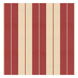 Red Racing Stripe Woven Fabric - Barn red & tan woven racing stripe. A classic alternative to the traditional awning stripe that can work in any decor.Recover your chair. Upholster a wall. Create a framed piece of art. Sew your own home accent. Whatever your decorating project, Loom's gorgeous, designer fabrics by the yard are up to the challenge!