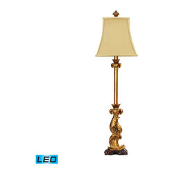 Dimond Lighting - Dimond Lighting Italian Curve Table Lamp in Gold Leaf - LED Offering Up To 800 L - Table Lamp in Gold Leaf - LED Offering Up To 800 Lumens belongs to Italian Curve Collection by Dimond Lighting Lamp (1)