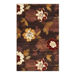 """Kas Rugs - Area Rug: Courtyard Garden Plum 2' 3"""" x 3' 3"""" - Shop for Flooring at The Home Depot. Our Courtyard Garden series is machine-woven in China of 100% heat-set polypropylene and hand-carved with specific attention to detail. This line features classic floral patterns. This timeless classic has been designed with today's colors in mind, bringing a beautiful blend of yesterday and today to your home."""