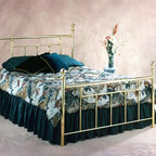 Hillsdale Furniture - Chelsea Classic Poster Bed w Metal Frame in B - Choose Bed Size: TwinThe Classic Brass Finish Bed with Satin Beige Bed Frame has always been a popular choice. Elegant bed features simple posts with straight easy lines on the head and footboard. Have it in your choice of Twin, Full, Queen or King size now. * Includes duo panel rails and bed frame. Mattress not included. Metal frame. Satin Beige bed frame. Twin: 40.5 in. L x 2.75 in. W x 51.5 in. H. Full: 55.9 in. L x 2.75 in. W x 51.5 in. H. Queen: 62.5 in. L x 2.75 in. W x 51.5 in. H. King: 78 in. L x 2.75 in. W x 51.5 in. HA Traditionally designed bed featuring classic turn of the century styling and a stunning classic Brass finish.