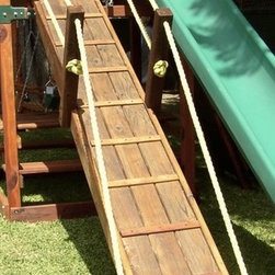 Swing Set Additions - Wooden Gang Plank - Wooden Gang Plank - Has the look of a gang plank on an old pirate ship that the kids are sure to love.