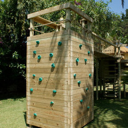 Climbing and Bouldering Wall - Our wonderful Climbing & Bouldering Wall for treehouses by Treehouse Life.