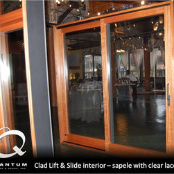 Quantum Windows and Doors - Clad Lift & Slide interior - Sapele with clear lacquer