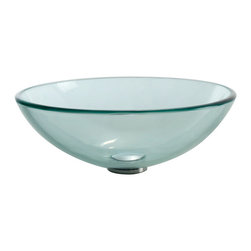 Kraus - Kraus GV-101 Clear Glass Vessel Sink - Fashionable bathroom sink is the perfect harmony of elegance and style