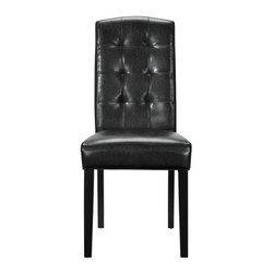 Modway - Perdure Dining Side Chair in Black - Mix timelessness with modern appeal in this Parsons style dining chair. Like the favorite pair of jeans which can be dressed up or down and tailored to every occasion, the rich simplicity of the Perdure chair makes it a perfect accessory for your every need.